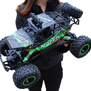 cheap Drones & Radio Controls-RC Car Giantfoot Monster Truck Crawlers 4WD 4 Channel 2.4G Buggy (Off-road) / Rock Climbing Car / 4WD 1:12 9 km/h Water / Dirt / Shock Proof / Simulation / Parent-Child Interaction