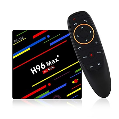 H96 Max 4G+64G TV Box / Air Mouse Android 8.1 TV Box / Air Mouse RK3328 4GB RAM 64GB ROM Octa Core Voice Control