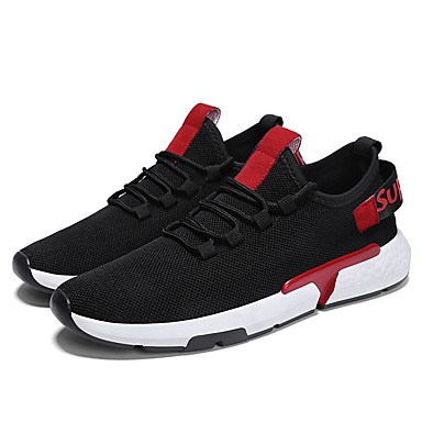 136561ad13a5 Men s Knit   Mesh Summer Comfort   Light Soles Sneakers Black   Red    Outdoor 6846938 2019 –  29.99