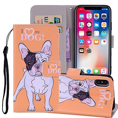 povoljno iPhone maske-Θήκη Za Apple iPhone X / iPhone 8 Plus / iPhone 8 Novčanik / Utor za kartice / sa stalkom Korice Pas / Slon Tvrdo PU koža