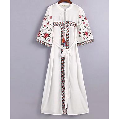 7f5e6cc14a88 Γυναικεία Βασικό T Shirt Φόρεμα - Μονόχρωμο Φλοράλ Ως το Γόνατο 6870427  2019 –  36.99