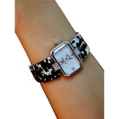cheap Square & RectangularWatches-Women's Wrist Watch Square Watch Quartz Ladies Chronograph Black / White / Red Analog - White Black Yellow / Imitation Diamond