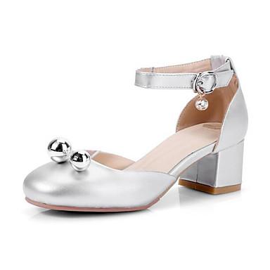 preiswerte Schuhe für Kinder-Mädchen Schuhe für das Blumenmädchen PU High Heels Kleine Kinder (4-7 Jahre) / Große Kinder (ab 7 Jahren) Strass Gold / Silber Sommer