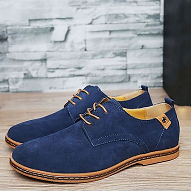 cheap Men's Oxfords-Men's Dress Shoes Comfort Shoes Spring / Fall Classic / Casual / British Daily Outdoor Office & Career Oxfords Suede Wear Proof Yellow / Red / Blue / EU42