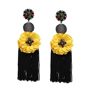 povoljno Naušnice s resama-Žene Burgundac Okrugle naušnice Vintage Style Rese dame Stilski Azijski Jednostavan Naušnice Jewelry Crvena / Zelen / Plava Za Maškare Ured i karijera 1 par