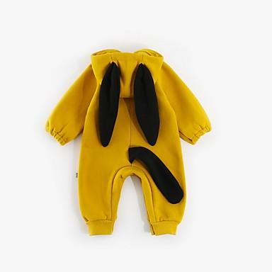 povoljno Odjeća za bebe-Dijete Djevojčice Osnovni Jednobojni Dugih rukava Jednodijelno Zlato / Dijete koje je tek prohodalo