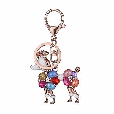 cheap Keychains-Keychain Dog Diamond / Rhinestone Decorated Case Fashion Imitation Diamond Ring Jewelry Rose Gold For Gift Daily