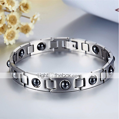 Men S Vintage Style Clic Chain Bracelet Hologram Stainless Creative Simple Unique Design Silver For Daily Work 6894954 2018