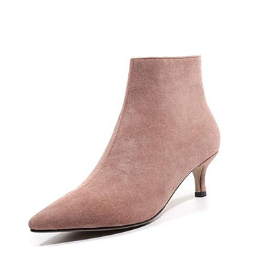 43f981cbed3 [$41.99] Women's Boots Fashion Boots Kitten Heel Closed Toe Suede Booties /  Ankle Boots Fall Brown / Pink / Almond