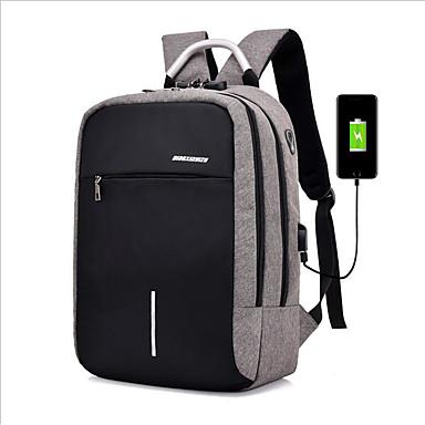 preiswerte Taschen-Polyester Reißverschluss Schultasche Schultaschen Schwarz / Hell Gray / Dunkelgrau / Herrn