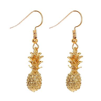 levne Dámské šperky-Dámské Visací náušnice Socha Ananas Ovoce dámy Jednoduchý Cute Style Náušnice Šperky Zlatá Pro Denní Dovolená 1 Pair