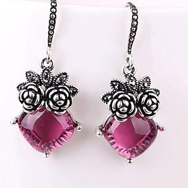 povoljno Modne naušnice-Žene Sintetički ametist Viseće naušnice Klasičan Cvijet dame Klasik Moda Naušnice Jewelry Pink Za Dnevno 1 par