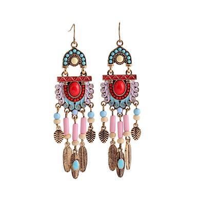 povoljno Modne naušnice-Žene Tirkiz Viseće naušnice dame Vintage Naušnice Jewelry Zlato Za Dnevno 1 par