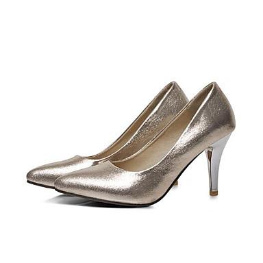 d64a87cf7c Mulheres Sapatos Confortáveis Sintéticos Primavera Saltos Salto Agulha  Prateado   Vermelho   Azul de 6920483 2019 por  22.99