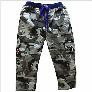 povoljno Odjeća za dječake-Djeca Dječaci Osnovni Kolaž Pamuk Hlače Vojska Green