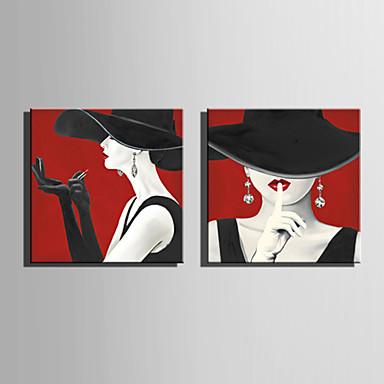 povoljno Ukrašavanje zidova-Print Rolled Canvas Prints Stretched Canvas Prints - Ljudi Moderna Moderna Umjetničke grafike