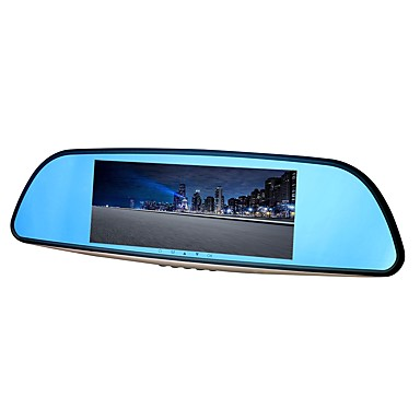 billige Bil-DVR-ziqiao xr701 full HD 1080p 7 tommers ips nattesyn bil dvr 140 graders vidvinkel cmos sensor speil kamera videoopptaker dual lens registrar bakfra dvrs dash cam
