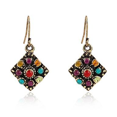 povoljno Modne naušnice-Žene Viseće naušnice Vintage Style dame Boemski stil Umjetno drago kamenje Naušnice Jewelry Zlato Za Dnevno 1 par