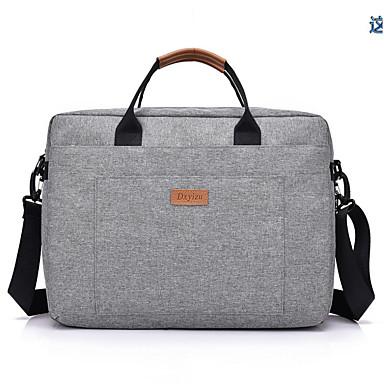 preiswerte Laptoptaschen-Segeltuch Reißverschluss Laptop Tasche Alltag Schwarz / Rote / Grau