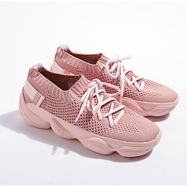 7f89f6c4a7f Dámské Komfortní boty Síťka Léto sportovní Tenisky Creepers Černá   Růžová  6915778 2018 –  49.99