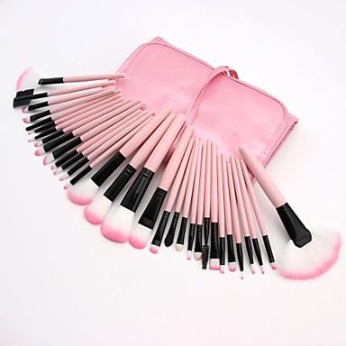 cheap Makeup Brush Sets-Professional Makeup Brushes Blush Brush 32pcs Full Coverage Plastic for