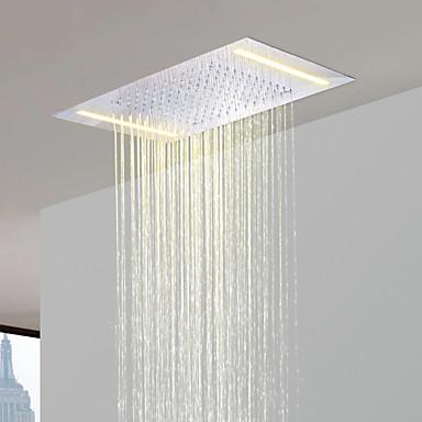 od nehrđajućeg čelika 304 110V ~ 220V izmjenične struje kupaonica kišni tuš glava s uštedu energije LED svjetiljke