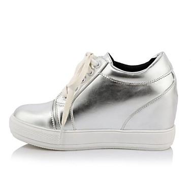 Mujer Zapatillas Cuña Confort De Deporte Pu Invierno Tacón Zapatos pwBzxqwg7