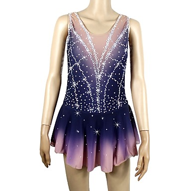 39da3eb5b83d Figure Skating Dress Women's Girls' Ice Skating Dress Random Colors Open  Back Halo Dyeing Spandex Micro-elastic Professional Competition Skating Wear  ...