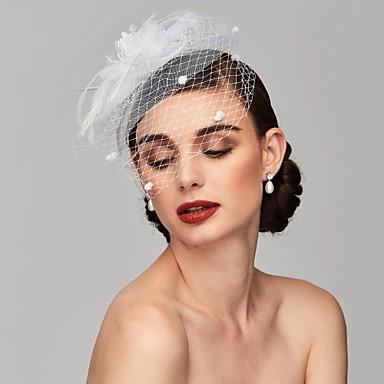 povoljno Party pokrivala za glavu-Perje / Net Kentucky Derby Hat / Fascinators / Headpiece s Perje / Cvjetni print / Cvijet 1pc Vjenčanje / Special Occasion Glava