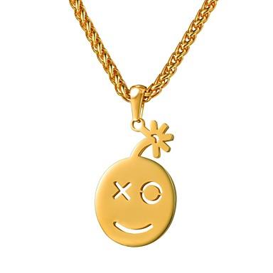 povoljno Modne ogrlice-Žene Ogrlice s privjeskom Lice dame Moda Slatka Style Tikovina Zlato Rose Gold 55 cm Ogrlice Jewelry 1pc Za Dar Dnevno