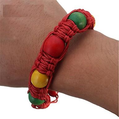 voordelige Sculpturen-draagbare armband handgemaakte kraal pijp creatieve legeringstring polsband pijp voor roken jamaica rasta wiet pijp