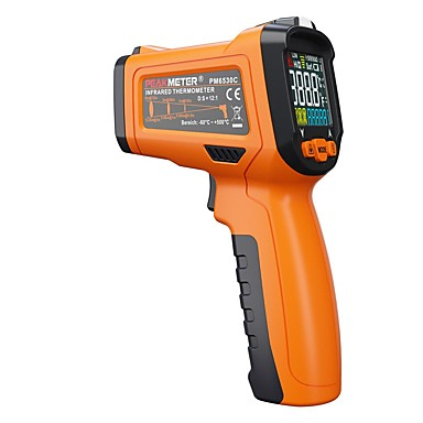 levne Testovací, měřící a kontrolní vybavení-špičkový pm6530c lcd ruční laser digitální ir infračervený teploměr teplota -50 ~ 800 s typem okolí okolního uv