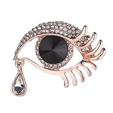 Žene Broševi Klasičan Eyes pomodan Moda Broš Jewelry Crn Za Spoj Ulica Cosplay nošnje