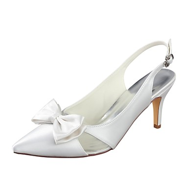 5290c166200 Women s Pumps Satin Summer Wedding Shoes Stiletto Heel Pointed Toe Bowknot  Ivory   Party   Evening 6942830 2019 –  39.99
