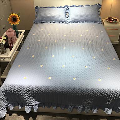 cheap Quilts & Coverlets-Comfortable - 2pcs Pillowcases / 1pc Quilt All Seasons Microfiber Simple