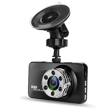hesapli Araba DVR-T638 Single Lens 720p / 1080p Yeni Dizayn / HD / Havalı Araba DVR'si 170 Derece Geniş açı 3 inç LTPS Dash Cam ile Gece görüşü / G-Sensor / Hareket Algılama Hayır Araba Kaydedici / Döngü Kayıt