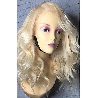 Remy Human Hair Lace Front Wig Bob Middle Part Side Part