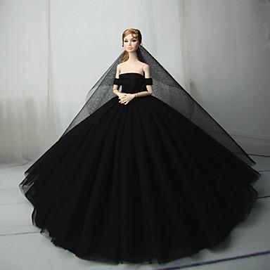 levne Doplňky pro panenky-Šaty pro panenky Party / Večírek Pro Barbie Černá Tyl Krajka Směs bavlny Šaty Pro Dívka je Doll Toy