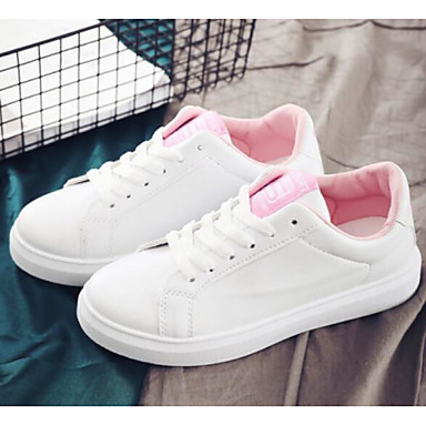 Dámské Komfortní boty PU Jaro Tenisky Rovná podrážka Růžová a bílá    Černobílá   Bílá   modrá 6915681 2019 –  34.99 55ae06fea1