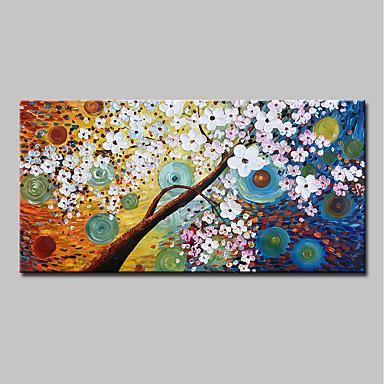povoljno Ulja na platnu-Hang oslikana uljanim bojama Ručno oslikana - Sažetak Cvjetni / Botanički Moderna Uključi Unutarnji okvir / Prošireni platno