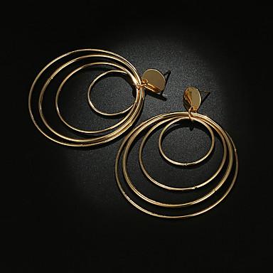 povoljno Modne naušnice-Žene Viseće naušnice Više slojeva Kreativan krafne Statement dame Vintage Hiperbola Naušnice Jewelry Zlato Za Vjenčanje Party 1 par