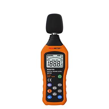 voordelige Test-, meet- & inspectieapparatuur-peakmeter pm6708 lcd digitale audio decibel geluidsniveaumeter db meter meetlogger tester 30 db tot 130 db