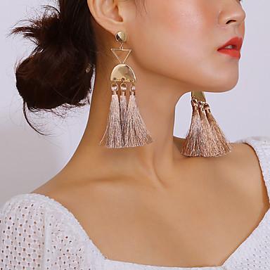 povoljno Modne naušnice-Žene Viseće naušnice Rese dame Kićanka Moda Elegantno Naušnice Jewelry Zlato Za Dnevno Festival 1 par