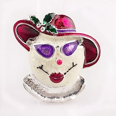 levne Dámské šperky-Dámské Brože Klasika Klaun dámy Jednoduchý Štras Brož Šperky Stříbrná Pro Vánoce