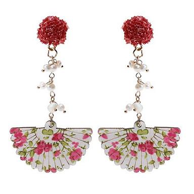 povoljno Modne naušnice-Žene Viseće naušnice Geometrijski dame Stilski drven Naušnice Jewelry Zlatan Za Dnevno 1 par