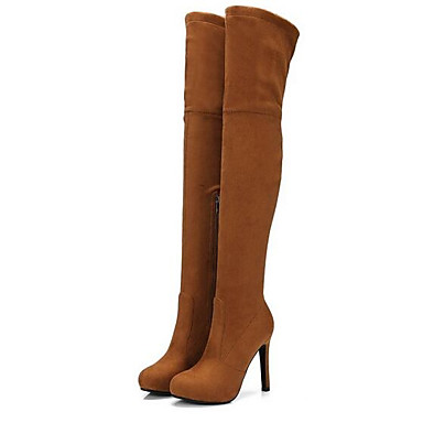 167c3ca243f4 Women s Fashion Boots Suede Fall Boots Stiletto Heel Over The Knee Boots  Dark Grey   Almond   Light Brown 6937109 2019 –  39.99