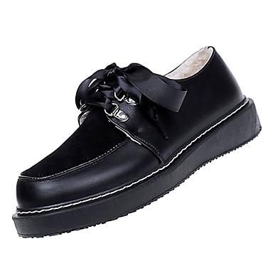 21f07f0d9b Női Kényelmes cipők PU Ősz Alkalmi Félcipők Lapos Fekete / Kávé / Napi  6943163 2019 – $22.99