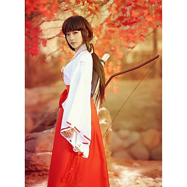 Inspirirana InuYasha Kikyo / Miko Anime Cosplay nošnje Japanski Cosplay Suits / Kimono Jednobojni Dugih rukava Top / Hlače Za Žene