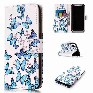 povoljno Apple oprema-Θήκη Za Apple iPhone XS / iPhone XR / iPhone XS Max Novčanik / Utor za kartice / sa stalkom Korice Rukav leptir Tvrdo PU koža