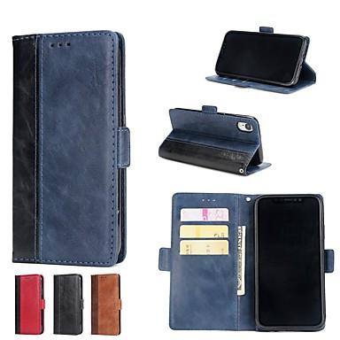 povoljno Apple oprema-Θήκη Za Apple iPhone X / iPhone 8 Plus / iPhone 8 Novčanik / Utor za kartice / sa stalkom Korice Jednobojni Tvrdo PU koža